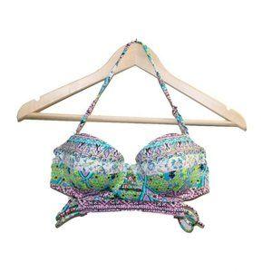 Victoria's Secert Boho Corset Strappy Bikini Top